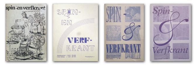 De covers van de Spin- & Verfkrant door de jaren heen