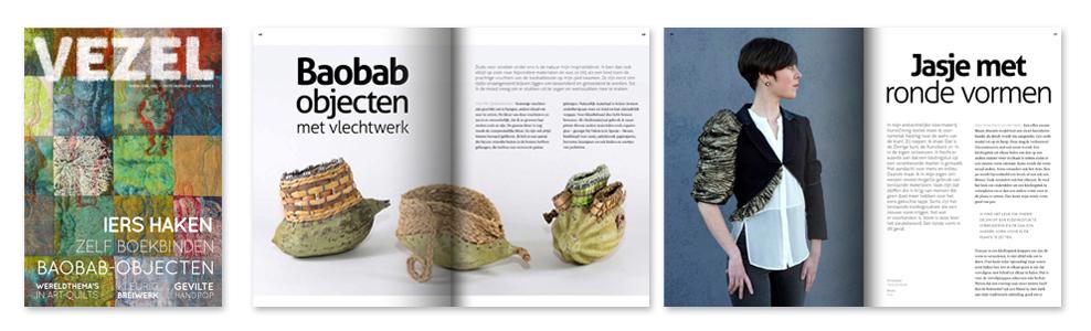 Pagina's uit de september uitgave van Vezel in 2019